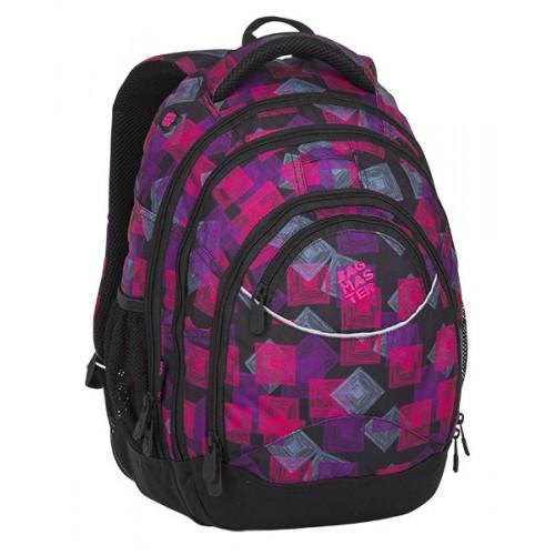 92e6a9e2f754 ENERGY 8 E BLACK/PINK/VIOLET hátizsák, iskolatáska